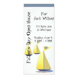 Vatertags-Segelboote 10,2 X 23,5 Cm Einladungskarte