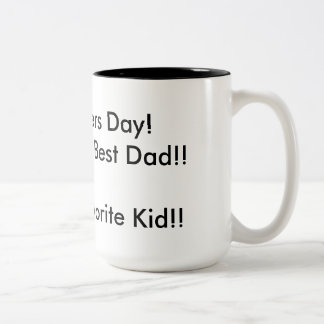 Vatertags-Tasse vom Lieblingskind Zweifarbige Tasse