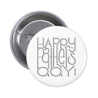Vatertags-Weiß Knopf Anstecknadelbuttons
