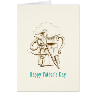 Vatertagskarte Bier-u. Brezel- Grußkarte