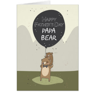 Vatertagskarte, der Vatertag Papa-Bärn- Grußkarte