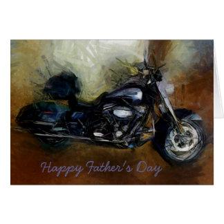 Vatertagskarte mit Harley Motorrad Grußkarte