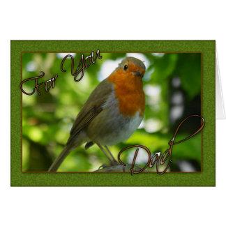 Vatertagskarte mit Robin-Fotografie Grußkarte
