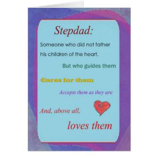 Vatertagskarte Stepdad- Grußkarte