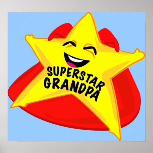 Vatertagsplakat des Superstargroßvaters humorvolle Plakatdrucke