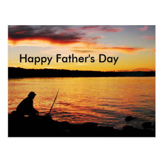 Vatertagspostkarte Fischen- Postkarten
