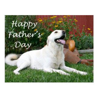 Vatertagspostkarte Labrador retriever- Postkarte