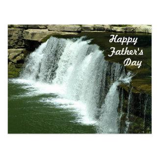 Vatertagspostkarte Wasserfall- Postkarte