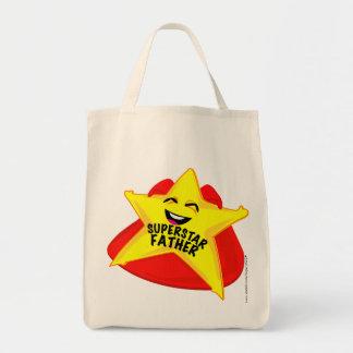 Vatertagstasche des Superstarvaters humorvolle! Einkaufstasche