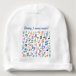 Vati, benötige ich Musik! Babymütze