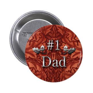 Vati-Button der Nr.-eine für den Vatertag Runder Button 5,1 Cm