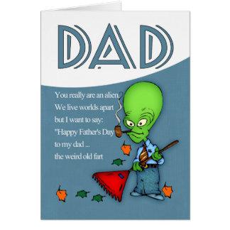 Vati der Vatertags-humorvolles alien