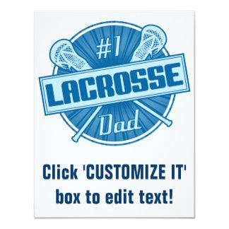 Vati des Lacrosse-#1 10,8 X 14 Cm Einladungskarte