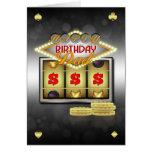 Vati-Geburtstags-Gruß-Karten-Kasino-Thema mit