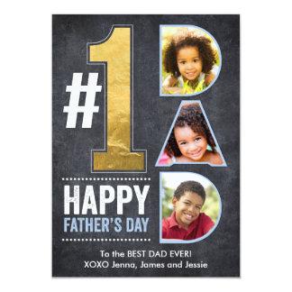 Vati-Gold des Vatertags-#1 12,7 X 17,8 Cm Einladungskarte