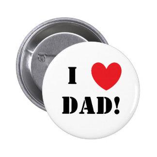 Vati Herz des Vatertags I! Button