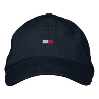 Vati-Hut rot, weiß u. Blau Bestickte Kappe