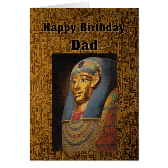 Vati-Pharao-alles Gute zum Geburtstag Karte