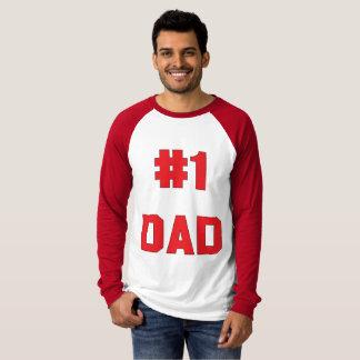 Vati-rote lange Hülse der Nr.-eine T-Shirt