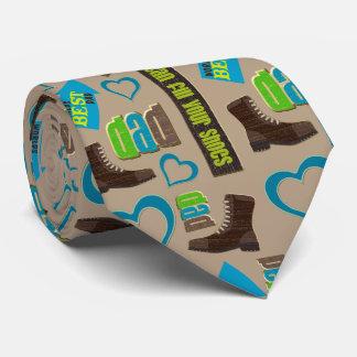 Vati-Schuh-Vatertags-Doppeltes Personalisierte Krawatten