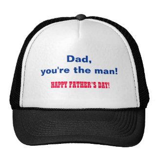 Vati, sind Sie der Mann. Der glückliche Vatertag! Truckerkappen