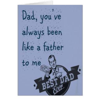 Vati, sind Sie gewesen immer… Der Vatertags-Karte Grußkarte