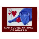 VATI sind Sie mein König der Herzen Grußkarte