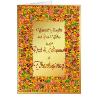 Vati u. Stiefmutter, Erntedank, Herbstlaub Karte