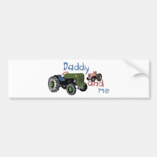 Vati und ich Mädchen-Traktoren Autoaufkleber
