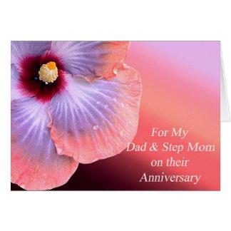 Vati-und Schritt-Mamma-Jahrestags-Karte Karte