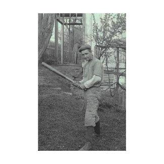 Vati-Vater-Baseballschläger-Fotografie-Vintager Va Gespannte Galeriedrucke