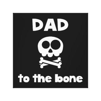 Vati zum Knochen Galerie Falt Leinwand