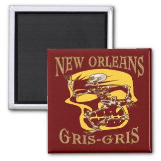 Vaudou de la Nouvelle-Orléans Gris Gris Magnet Carré