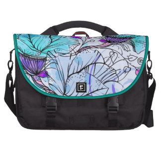 Vecteur turquoise flowers sacoches ordinateur portable
