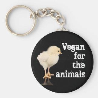 Vegan für die Tiere - Küken Standard Runder Schlüsselanhänger