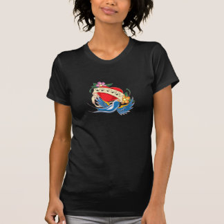 VEGAN in der klassischen Herztätowierungsart T-Shirts