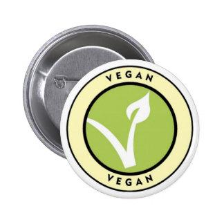 Vegan! Knopf für Vegans Runder Button 5,1 Cm