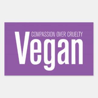 Vegan: Mitleid über Grausamkeit Rechteckiger Aufkleber