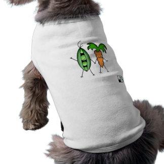 Vegane Bob-Erbsen und Karotten-T-Shirt T-Shirt