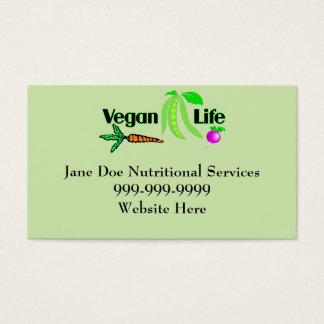 Vegane Lebensversicherungsgeschäft-Karten Visitenkarte