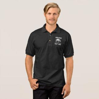 Veganer mächtiger Rhino-gesunder Lebensstil-cooles Polo Shirt