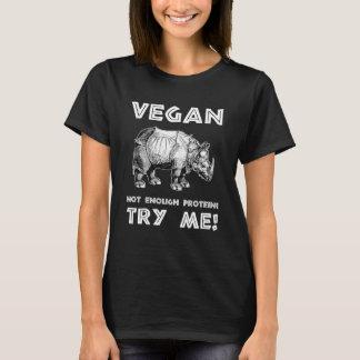Veganer mächtiger Rhino-gesunder Lebensstil-cooles T-Shirt