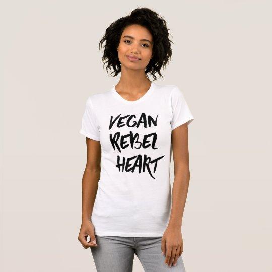Veganer Rebellenherz-T - Shirt