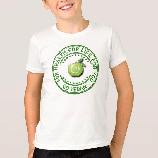 Veganer vegetarischer grüner Apple für Gesundheit T-Shirt
