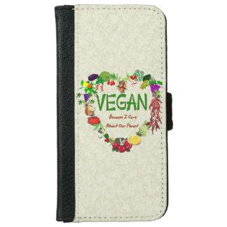 Veganes Herz iPhone 6 Geldbeutel Hülle