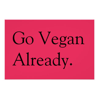 veganes Plakat