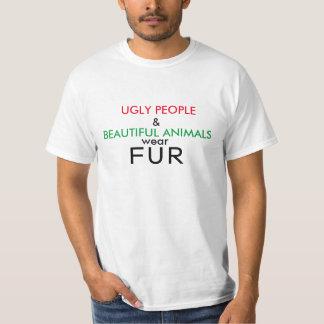 Veganes Shirt-hässliche Leute und schöner T-Shirt