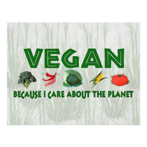 Vegans für den Planeten Bedruckte Flyer