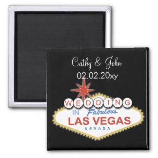 Vegas, der Save the Date Magneten wedding ist Magnete