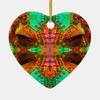 Vegas-Frosch-Muster durch Deprise Keramik Herz-Ornament